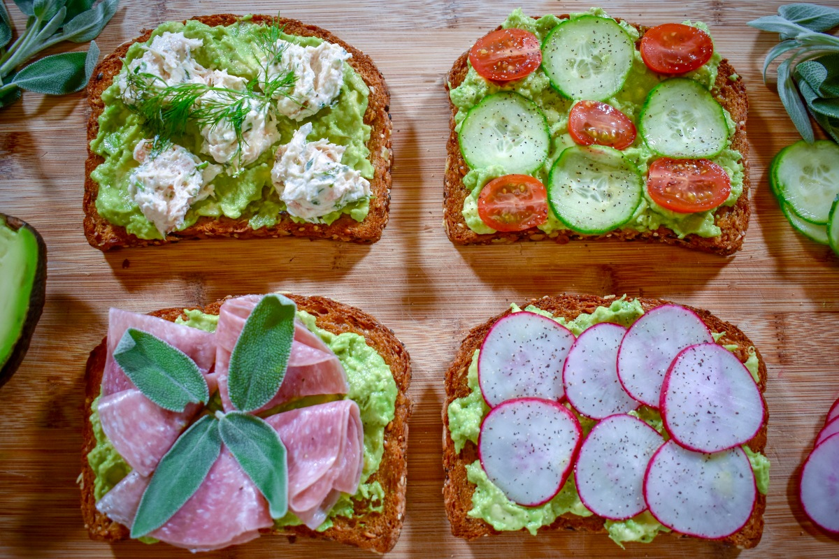 Miahjay's At Home: Avocado Toast 4 Ways